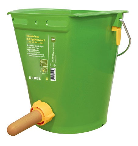 Feeding Buckets, Teats and Bottles Feeding Bucket with Hygienic Valve ... the one with the lid