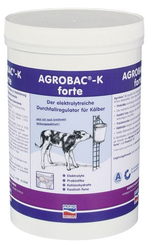 Dietary and Calcium Supplements Agrobac®-K Powder Bowel regulatory powder for calves with diarrhoea, with natural detoxification function