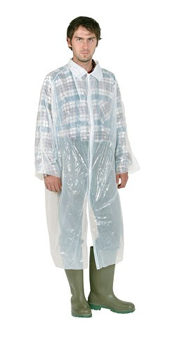 Disposable Gloves and Overalls Disposable Coat, white